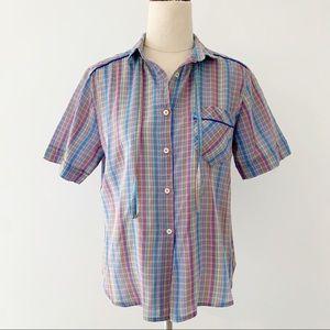 Vintage Peter Austin Rainbow Short Sleeve Shirt